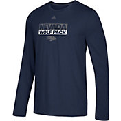 adidas Men's Nevada Wolf Pack Blue Go-To Long Sleeve Performance T-Shirt