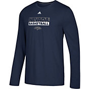 adidas Men's Nevada Wolf Pack Blue Go-To Long Sleeve Performance Shirt