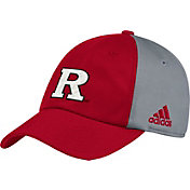 adidas Men's Rutgers Scarlet Knights Scarlet/Grey Slouch Football Sideline Hat