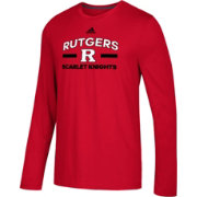 adidas Men's Rutgers Scarlet Knights Scarlet Go-To Long Sleeve Performance Shirt