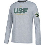 adidas Men's South Florida Bulls Grey Ultimate Performance Long Sleeve T-Shirt