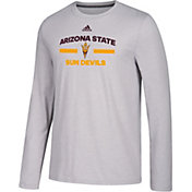 adidas Men's Arizona State Sun Devils Grey Go-To Long Sleeve Performance Shirt