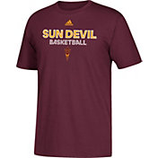 adidas Men's Arizona State Sun Devils Maroon Go-To Basketball T-Shirt