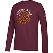 adidas Men's Arizona State Sun Devils Maroon Center Court Long Sleeve Basketball T-Shirt