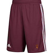 adidas Men's Arizona State Sun Devils Maroon 3-Stripes Knit Performance Shorts