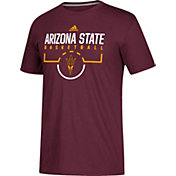 adidas Men's Arizona State Sun Devils Maroon Practice Basketball T-Shirt