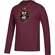 adidas Men's Arizona State Sun Devils Maroon 'PT42' Ultimate Long Sleeve Hooded T-Shirt