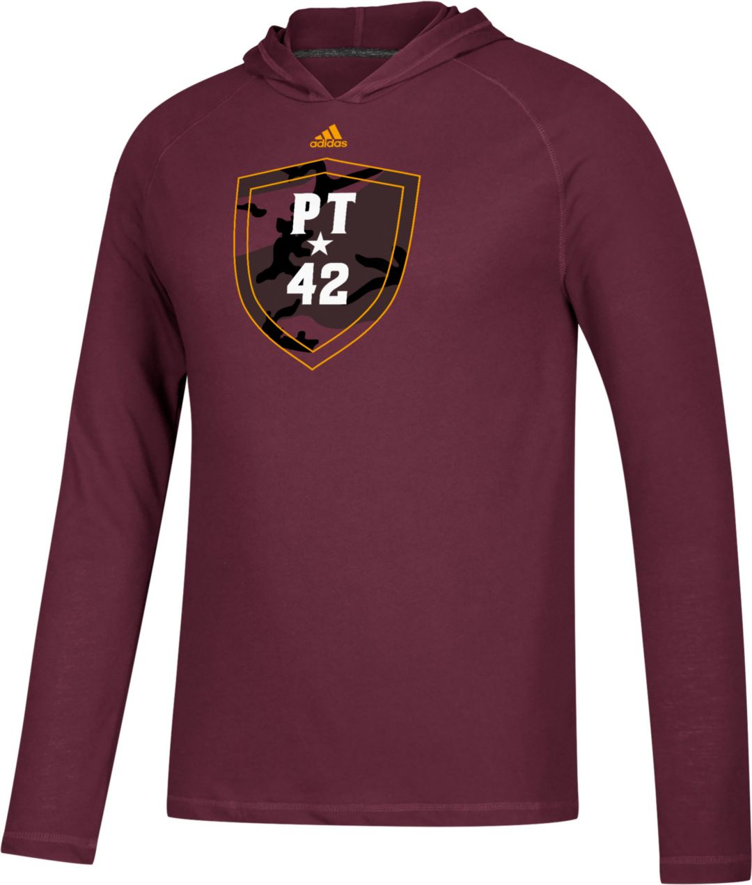 a3caff2be71b adidas Men's Arizona State Sun Devils Maroon 'PT42' Ultimate Long Sleeve  Hooded Shirt 1