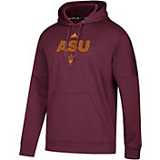 adidas Men's Arizona State Sun Devils Maroon Team Issue Performance Hoodie