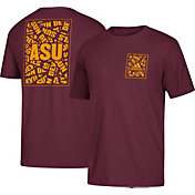 adidas Men's Arizona State Sun Devils Maroon Word-Up Tri-Blend T-Shirt