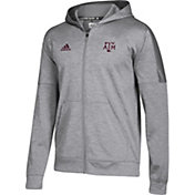 adidas Men's Texas A&M Aggies Grey Team Issue Full-Zip Performance Football Hoodie