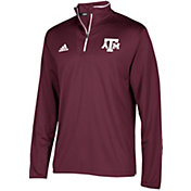adidas Men's Texas A&M Aggies Maroon Team Iconic Football Quarter-Zip