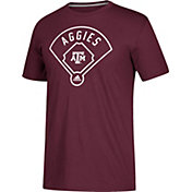 adidas Men's Texas A&M Aggies Maroon 'Around The Horn' Go-To Performance Baseball T-Shirt