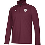 adidas Men's Texas A&M Aggies Maroon Long Sleeve Performance Quarter-Zip Shirt