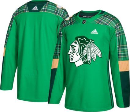 adidas Men s St. Patrick s Day Chicago Blackhawks Authentic Pro Jersey.  noImageFound db06057156a
