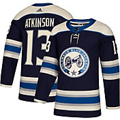 adidas Men's Columbus Blue Jackets Cam Atkinson #13 Authentic Pro Alternate Jersey