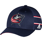 adidas Men's Columbus Blue Jackets Fashion Logo Navy Flex Hat
