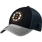 adidas Men's Boston Bruins Structured Black Flex Hat