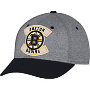 CCM Men's Boston Bruins Structured Heather Grey/Black Flex Hat