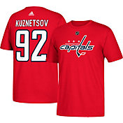 adidas Men's Washington Capitals Evgeny Kuznetsov #92 Red T-Shirt