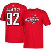 adidas Men's Washington Capitals Evgeny Kuznetsov #92 Red T-Shirt