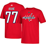 adidas Men's Washington Capitals T.J. Oshie #77 Red T-Shirt