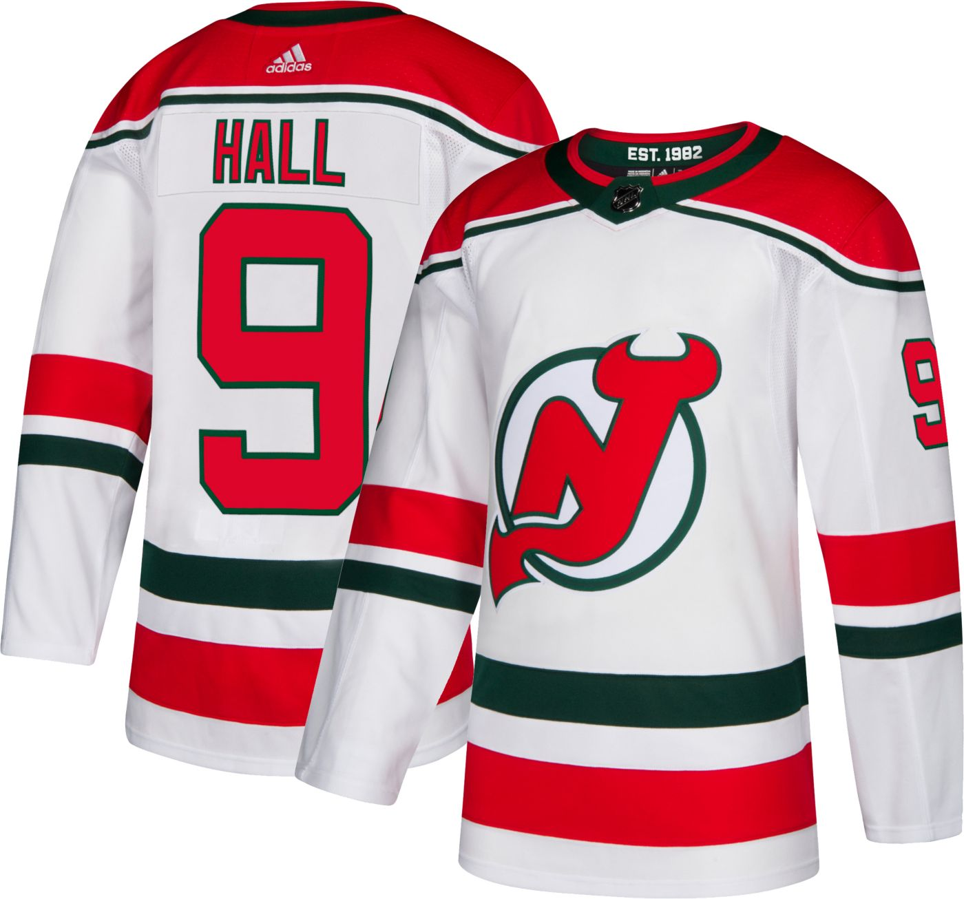 adidas Men's New Jersey Devils Taylor Hall #9 Authentic Pro Retro Jersey