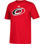 adidas Men's Carolina Hurricanes Big Logo Red T-Shirt