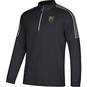 adidas Men's Vegas Golden Knights Logo Black Quarter-Zip Pullover