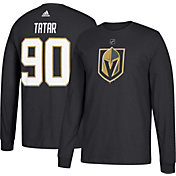 adidas Men's Vegas Golden Knights Tomas Tatar #90 Black Long Sleeve Shirt