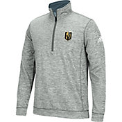 adidas Men's Vegas Golden Knights Logo Heather Grey Quarter-Zip