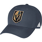 adidas Men's Vegas Golden Knights Grey Structured Adjustable Hat