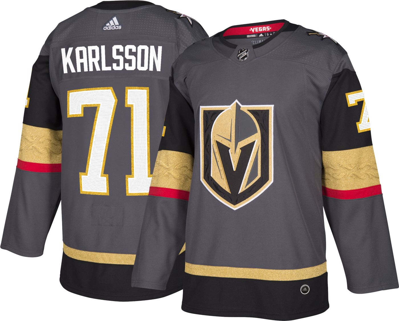 adidas Men's Vegas Golden Knights William Karlsson #71 Authentic Pro Home Jersey