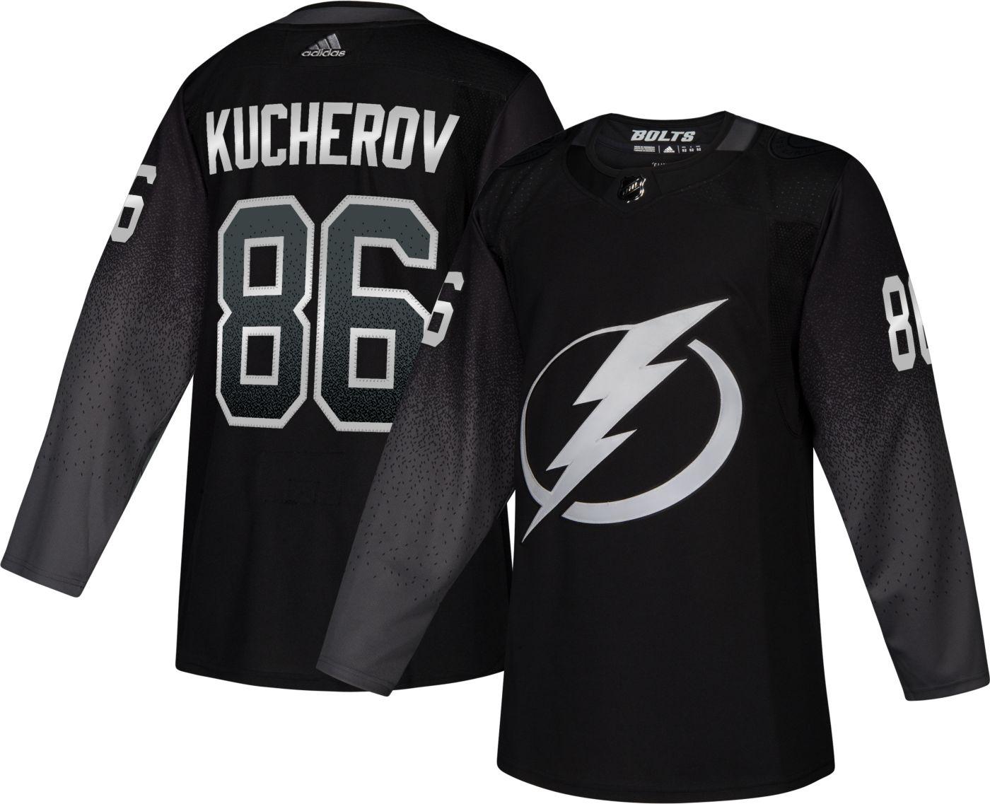 adidas Men's Tampa Bay Lightning Nikita Kucherov #86 Authentic Pro Alternate Jersey