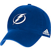 adidas Men's Tampa Bay Lightning Primary Logo Royal Slouch Adjustable Hat