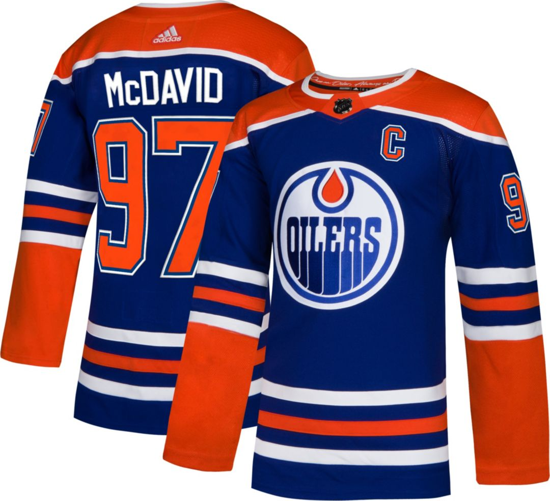 new product cf2a7 b7f8c adidas Men's Edmonton Oilers Connor McDavid #97 Authentic Pro Alternate  Jersey