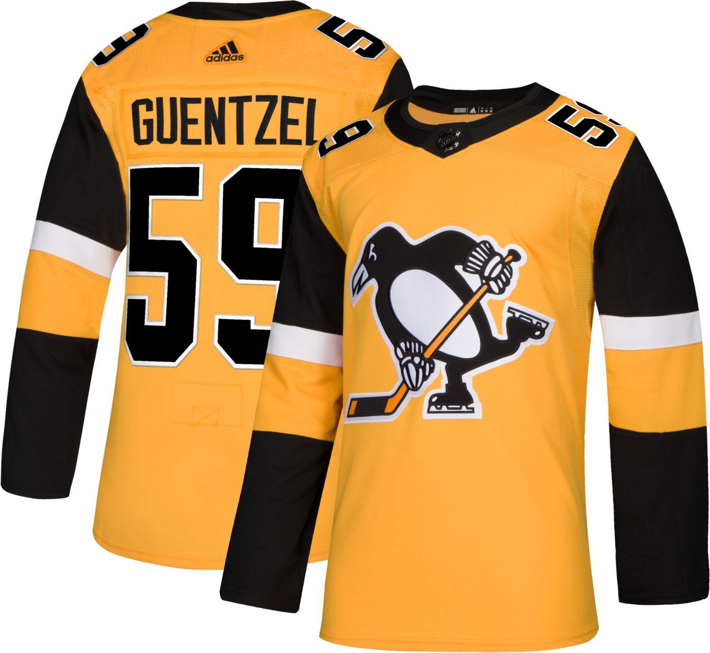 adidas Men's Pittsburgh Penguins Jake Guentzel #59 Authentic Pro Alternate Jersey