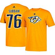 adidas Men's Nashville Predators P.K. Subban #76 Gold T-Shirt
