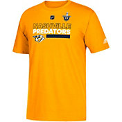 adidas Men's 2018 Stanley Cup Playoffs Nashville Predators Locker Room Gold T-Shirt