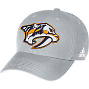 adidas Men's Nashville Predators Logo Structured Grey Adjustable Hat