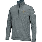 adidas Men's Nashville Predators Logo Heather Grey Quarter-Zip
