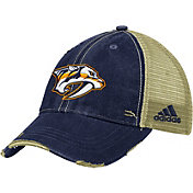 adidas Men's Nashville Predators Trucker Navy Mesh Adjustable Hat