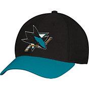 adidas Men's San Jose Sharks Two-Tone Structured Black/Teal Flex Hat