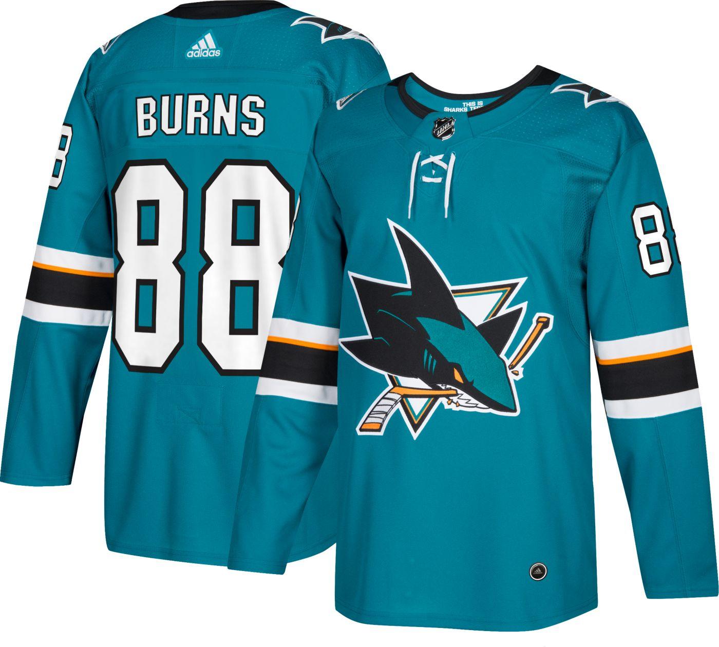 adidas Men's San Jose Sharks Brent Burns #88 Authentic Pro Home Jersey