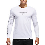 adidas Men's International Logo Long Sleeve Tee