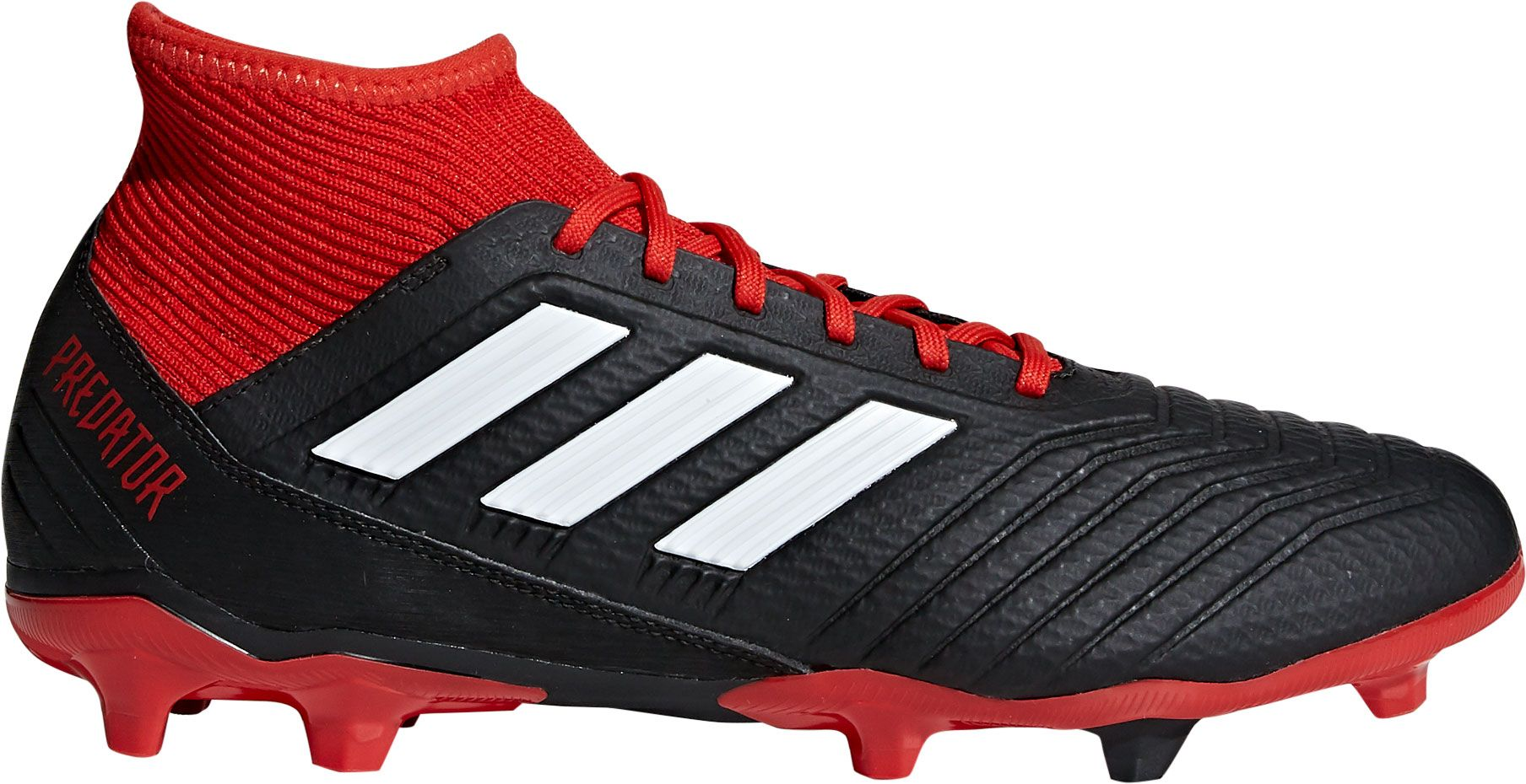 adidas Men's Predator 18.3 FG Soccer Cleats, Size: 7.0, Black