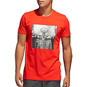 adidas Men's Skull Ball Graphic Basketball T-shirt