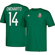 "adidas Men's Mexico Javier ""Chicharito"" Hernandez #14 Green Player T-Shirt"