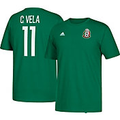 adidas Men's Mexico Carlos Vela #11 Green Player T-Shirt