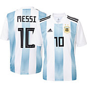 adidas Men's Argentina Lionel Messi #10 Stadium Home Replica Jersey
